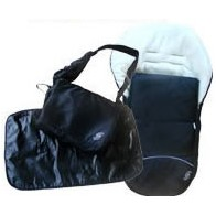 Sproggs Footmuff And Changing Bag Set-Black *CLEARANCE**