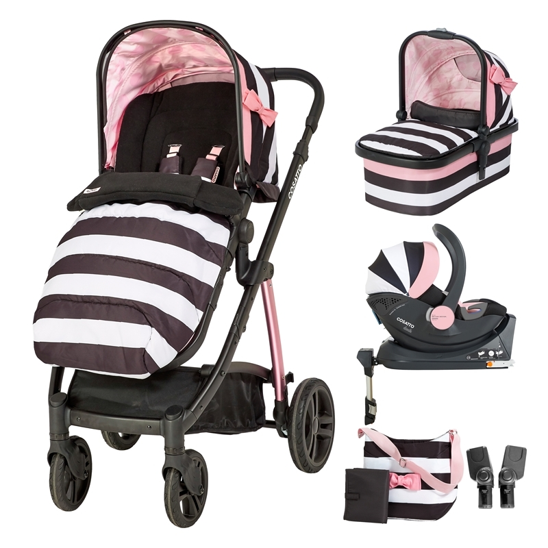 Cosatto Wow 3in1 Whole 9 Yards Travel System with Dock 0+ Car Seat-Golightly 3