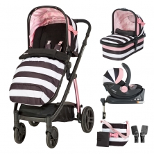 Cosatto Wow 3in1 Whole 9 Yards Travel System with Dock 0+ Car Seat-Go Lightly 3 (CLEARANCE)