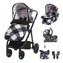 Cosatto Wow 3in1 Whole 9 Yards Travel System with Dock 0+ Car Seat-Mademoiselle