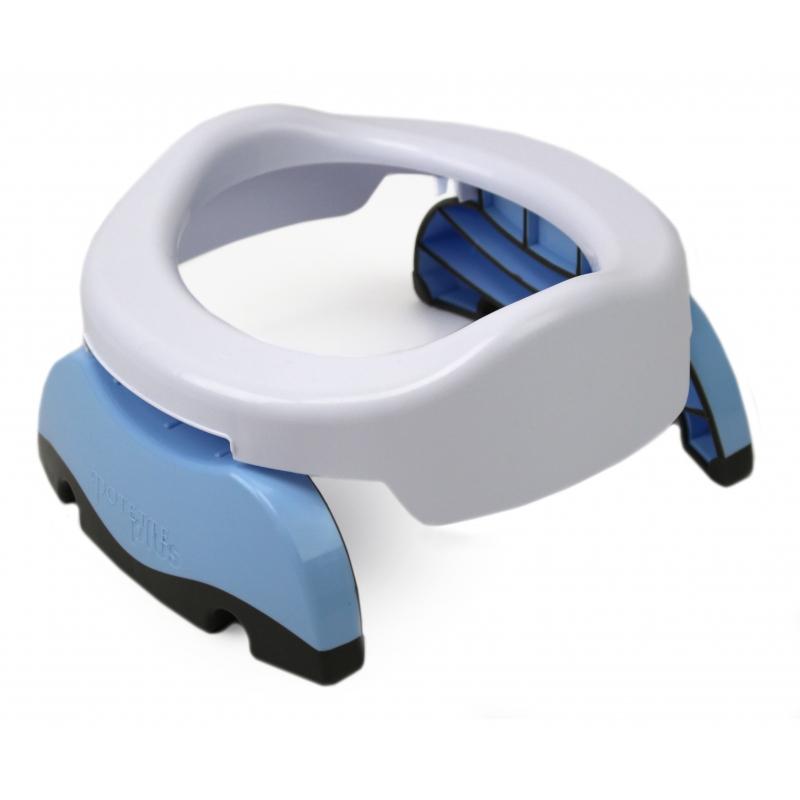 Potette Plus Folding Potty-White/Blue