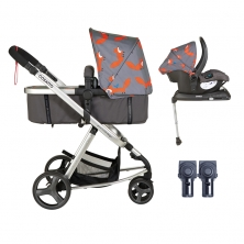Cosatto Giggle Mix 3in1 Whole 9 Yards Travel System with Hold 0+ Car Seat-Mister Fox