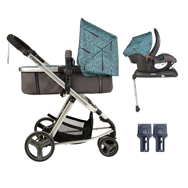 Cosatto Giggle Mix 3in1 Whole 9 Yards Travel System with Hold 0+ Car Seat-Fjord