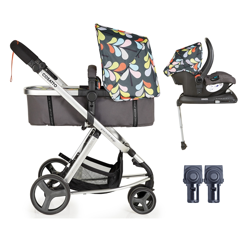 Cosatto Giggle Mix 3in1 Whole 9 Yards Travel System With Hold 0+ Car Seat Nordik