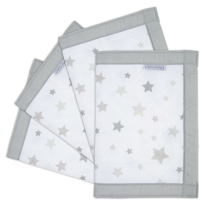 Airwrap 4 Sided Cot Protector-Silver Stars