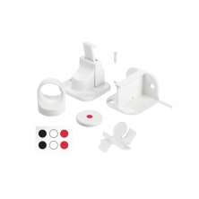 Fred Pack of 2 Invisible Magnetic Lock-Pure White