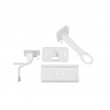 Fred Pack of 2 Lower Drawer Catch-White