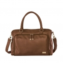 isoki Double Zip Satchel Changing Bag-Redwood