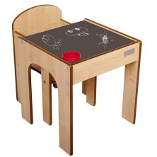 Little Helper FunStation Toddler Table and Chair Set-Chalky