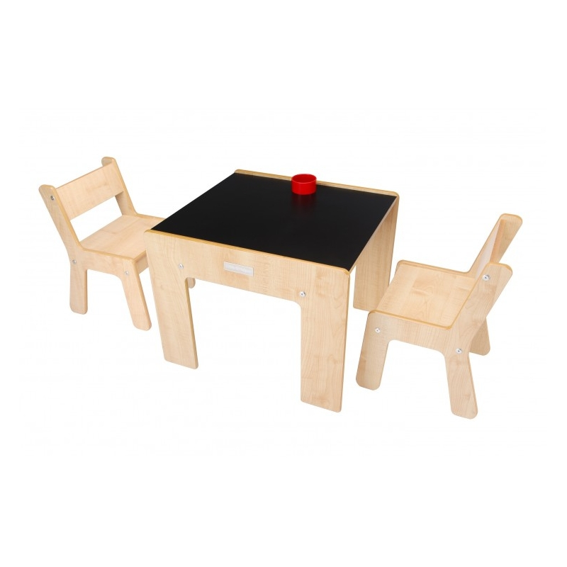 Little Helper New FunStation Duo Toddler Table and 2 Chair Set-Chalky