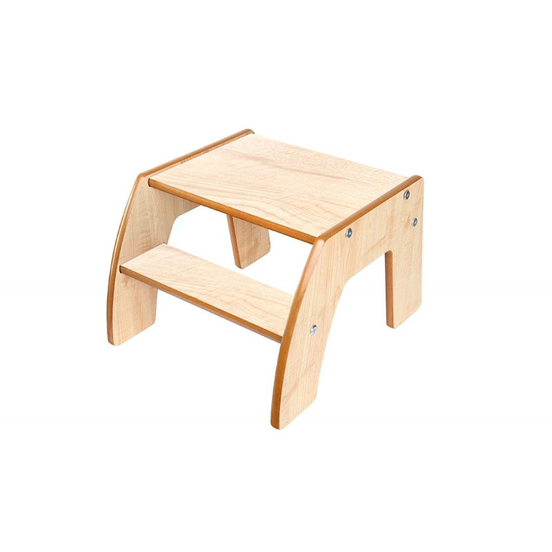 Little Helper FunStep Toddler & Child Safety Step Stool-Maple