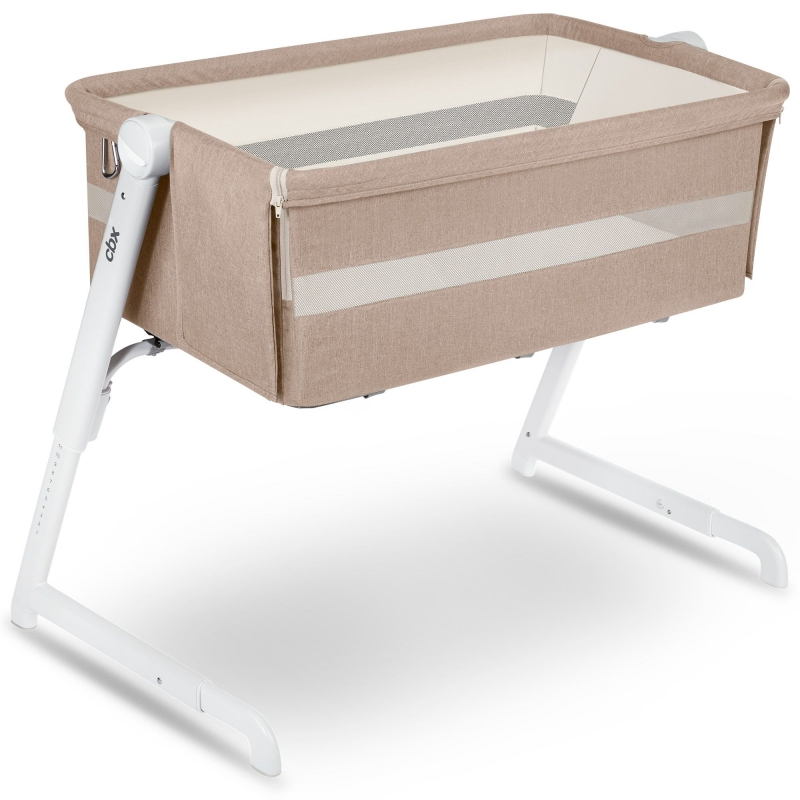 CBX Hubble Air Crib-Dreamy Beige + FREE Mattress & Fitted Sheet!