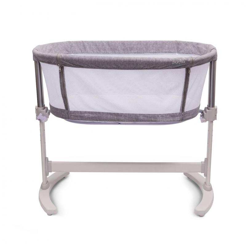 Purflo Purair Breathable Keep Me Close Bedside Crib-Marl Grey