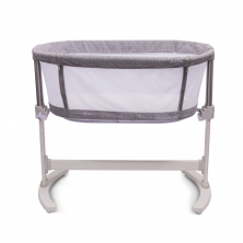 Purflo Purair Breathable Keep Me Close Bedside Crib-Marl Grey