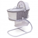 Purflo Purair Breathable Bassinet-Marl Grey