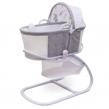 Purflo Purair Breathable Bassinet-Marl Grey