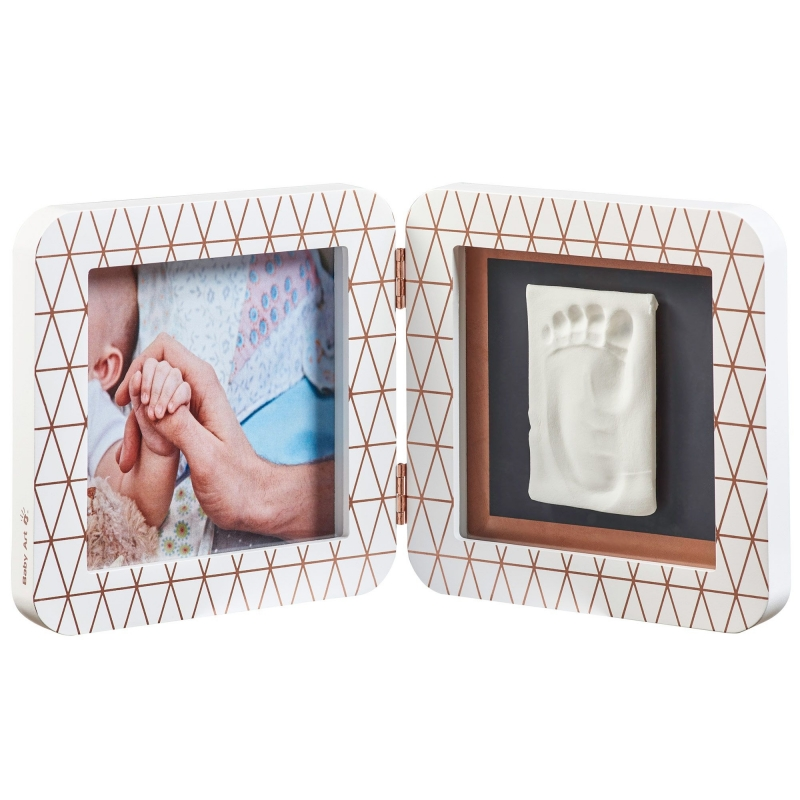 Baby Art My Baby Touch Rounded Single Print Frame-White Copper Edition (NEW 2019)