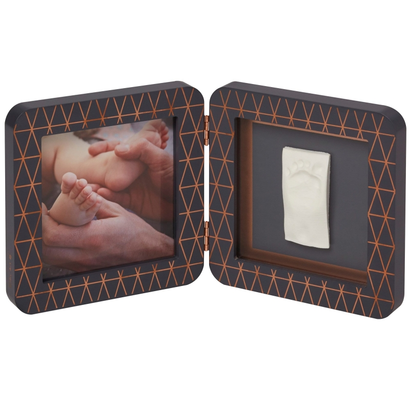 Baby Art My Baby Touch Rounded Single Print Frame-Dark Grey Copper Edition (NEW 2019)