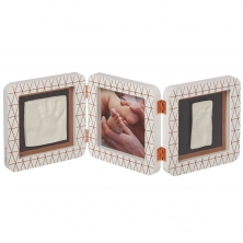 Baby Art My Baby Touch Rounded Double Print Frame-White Copper Edition (NEW 2019)