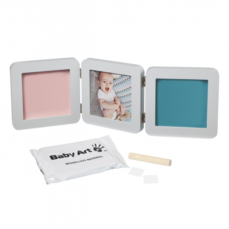 Baby Art My Baby Touch Double Print Frame-Pastel