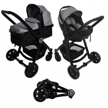 Red Kite Push Me Fusion Travel System-Platinum