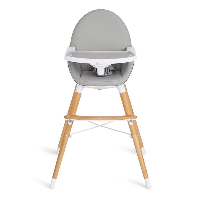 Koo-di Duo Wooden High Chair-Grey