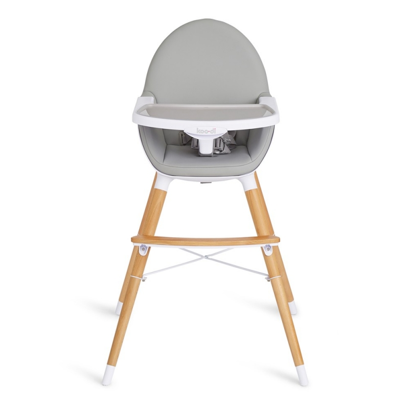 Koo-di Duo Wooden High Chair-Grey
