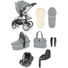 egg® Luxury 3in1 Pebble+ Travel System with 2wayfix Base-Platinum (New 2019)