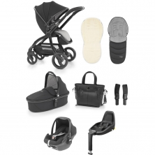 egg® Special Edition Luxury 3in1 Pebble+ Travel System with 3wayfix Base-Just Black (New 2019)