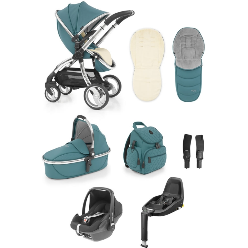 Egg� Special Edition Luxury 3in1 Pebble+ Travel System With Familyfix3 Base Cool Mist (New 2019)