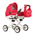 Roma Wynnie Dolls Pram-Red Polka