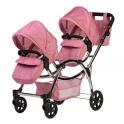 Roma Darcie Twin Dolls Pram-Pink