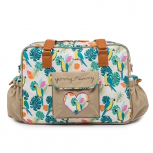 Pink Lining Yummy Mummy Changing Bag-Parrot Cream