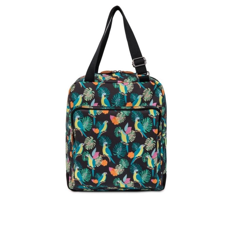 Pink Lining Wonder Bag-Parrot Black
