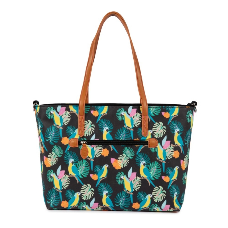 Pink Lining Nottinghill Tote-Parrot Black