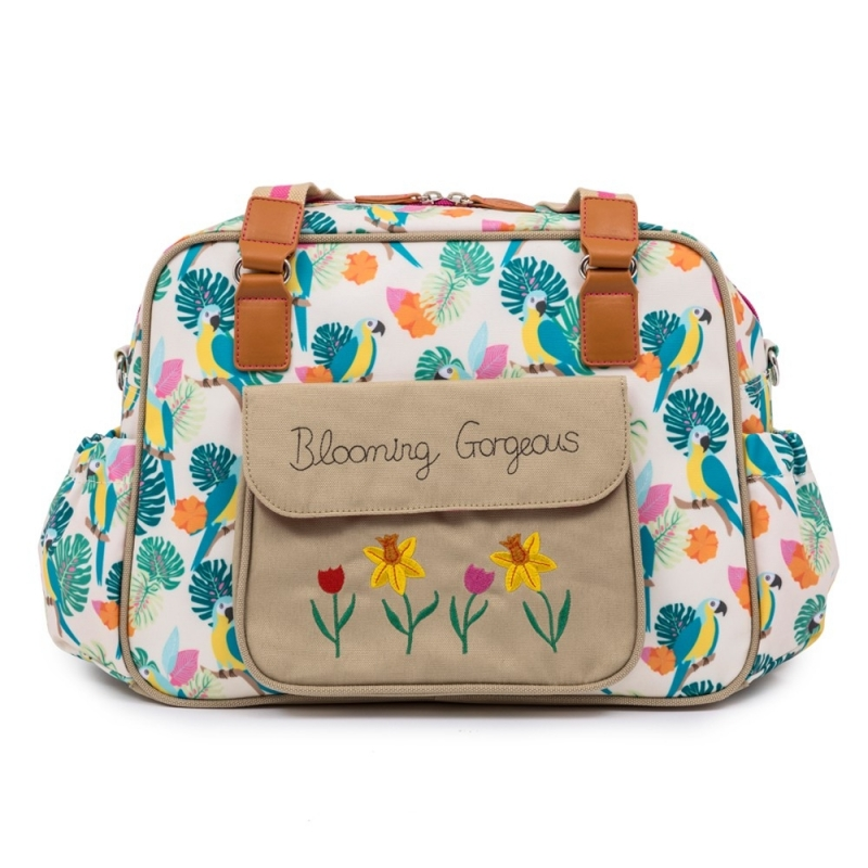 Pink Lining Blooming Gorgeous Changing Bag-Parrot Cream