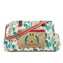Pink Lining Twice as Nice Twin Bag-Parrot Cream