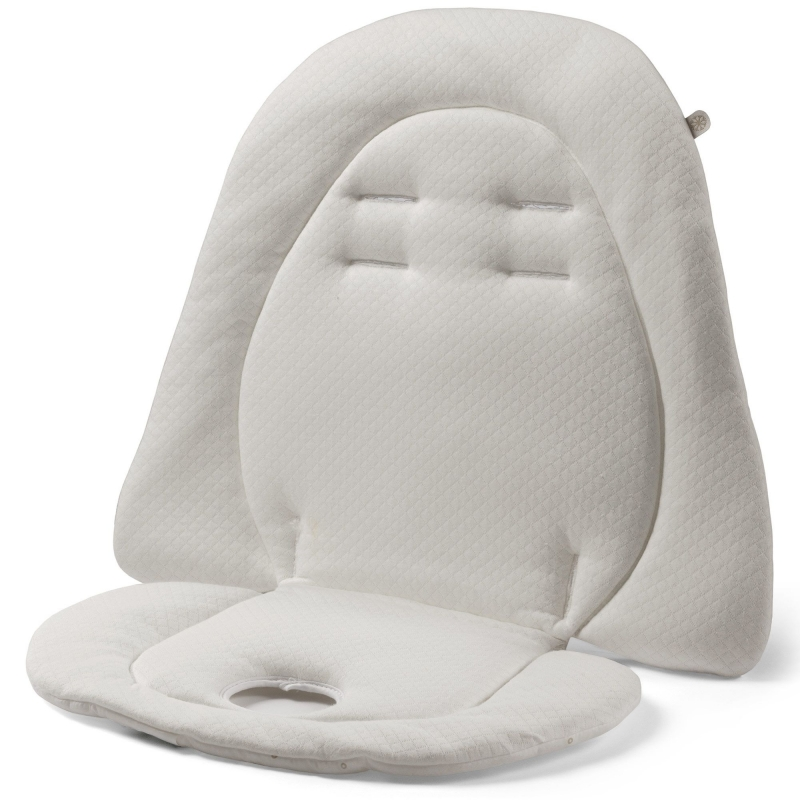 Peg Perego Padded Cushion for Highchairs & Strollers-White/Cream
