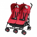 Peg Perego Pliko Mini Twin Light Weight Stroller-Mod Red + FREE Raincover
