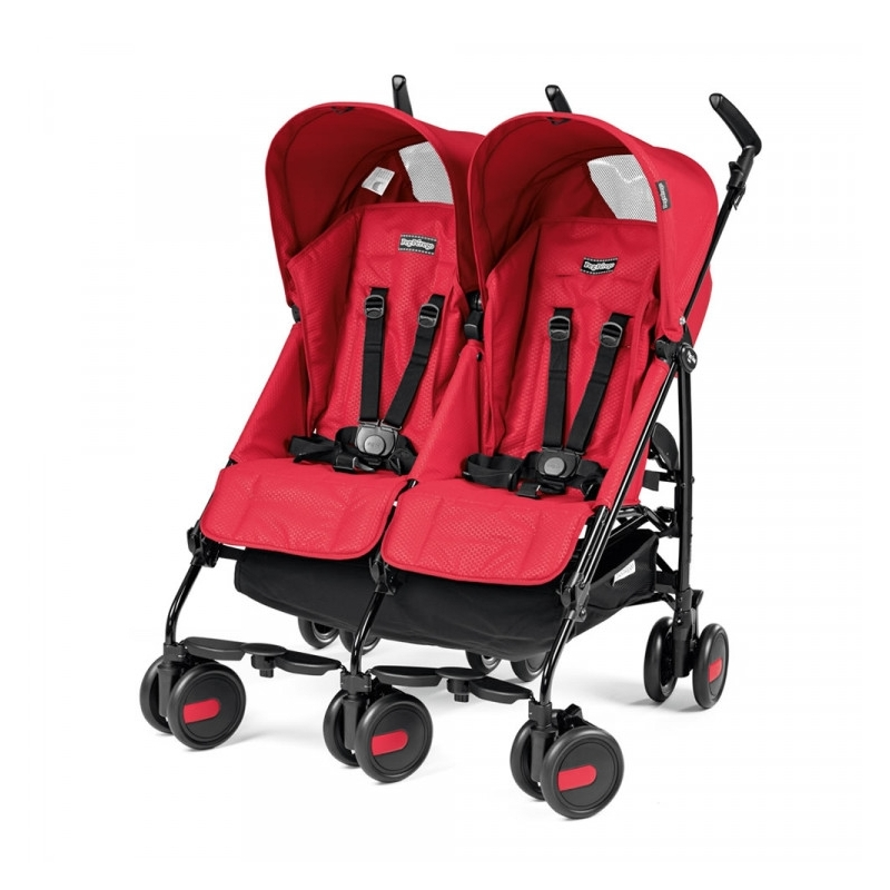 Peg Perego Pliko Mini Twin Light Weight Stroller-Mod Red (New 2019)