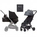 Ergobaby Metro Stroller with Newborn Kit and Carry Bag-Grey