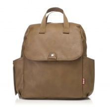 Babymel Robyn Convertible Backpack-Faux Leather Tan (New)