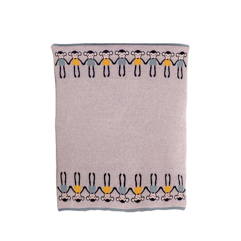 Bizzi Growin Cheeky Monkey Knitted Baby Blanket