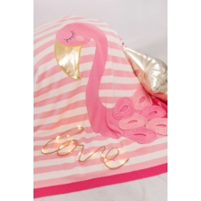 Bizzi Growin Pink Flamingo Picture Baby Blanket