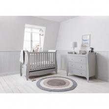 Tutti Bambini Roma Mini Sleigh 2 Piece Room Set-Dove Grey