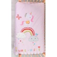 Bizzi Growin Cot Bed Quilt-Rainbow & Unicorns