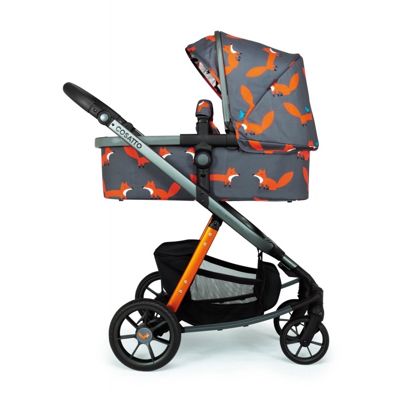 Cosatto Giggle Quad Pram and Pushchair-Charcoal Mister Fox