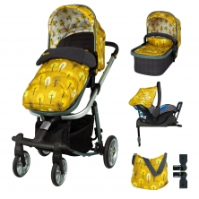 Cosatto Giggle Quad Pram & Pushchair Whole 9 Yards Bundle-Spot The Birdie