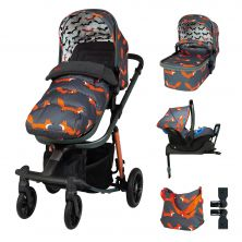 Cosatto Giggle Quad Pram & Pushchair Whole 9 Yards Bundle-Charcoal Mister Fox