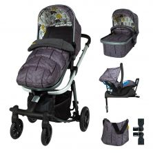 Cosatto Giggle Quad Pram & Pushchair Whole 9 Yards Bundle-Fika Forest